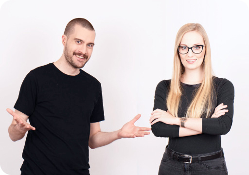 Two employees from Frontkom
