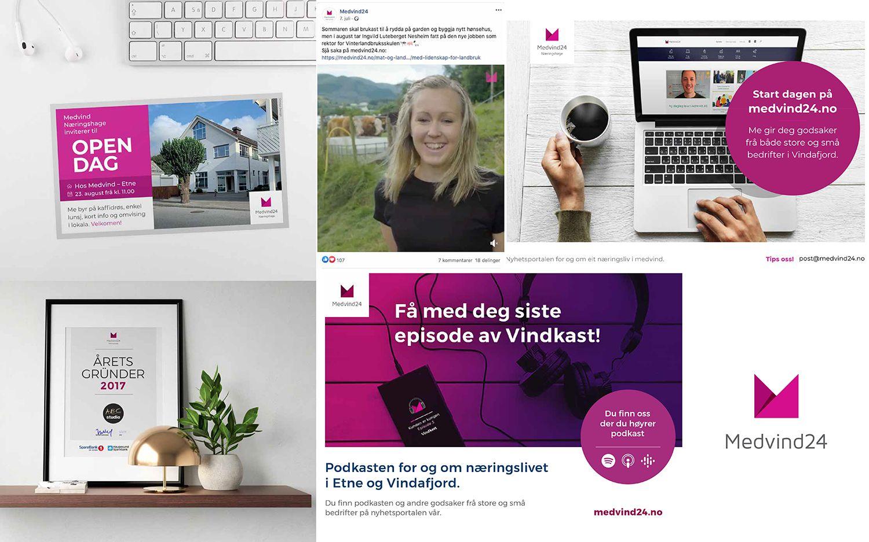 Bilde av Medvind24 profileringsmateriell og nettside