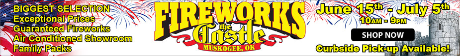 Castle of Muskogee Fireworks 2020
