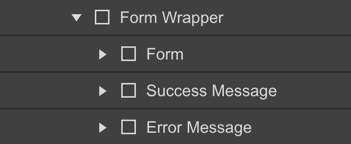 Anatomy of a Webflow form