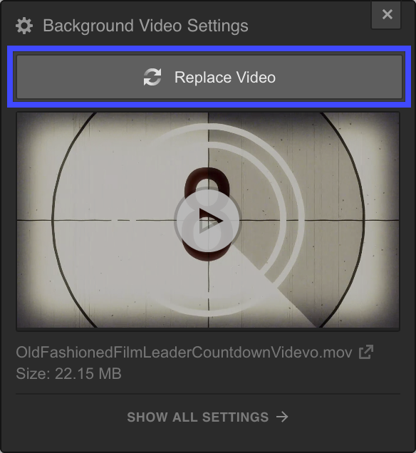 Replacing a Background Video in Webflow