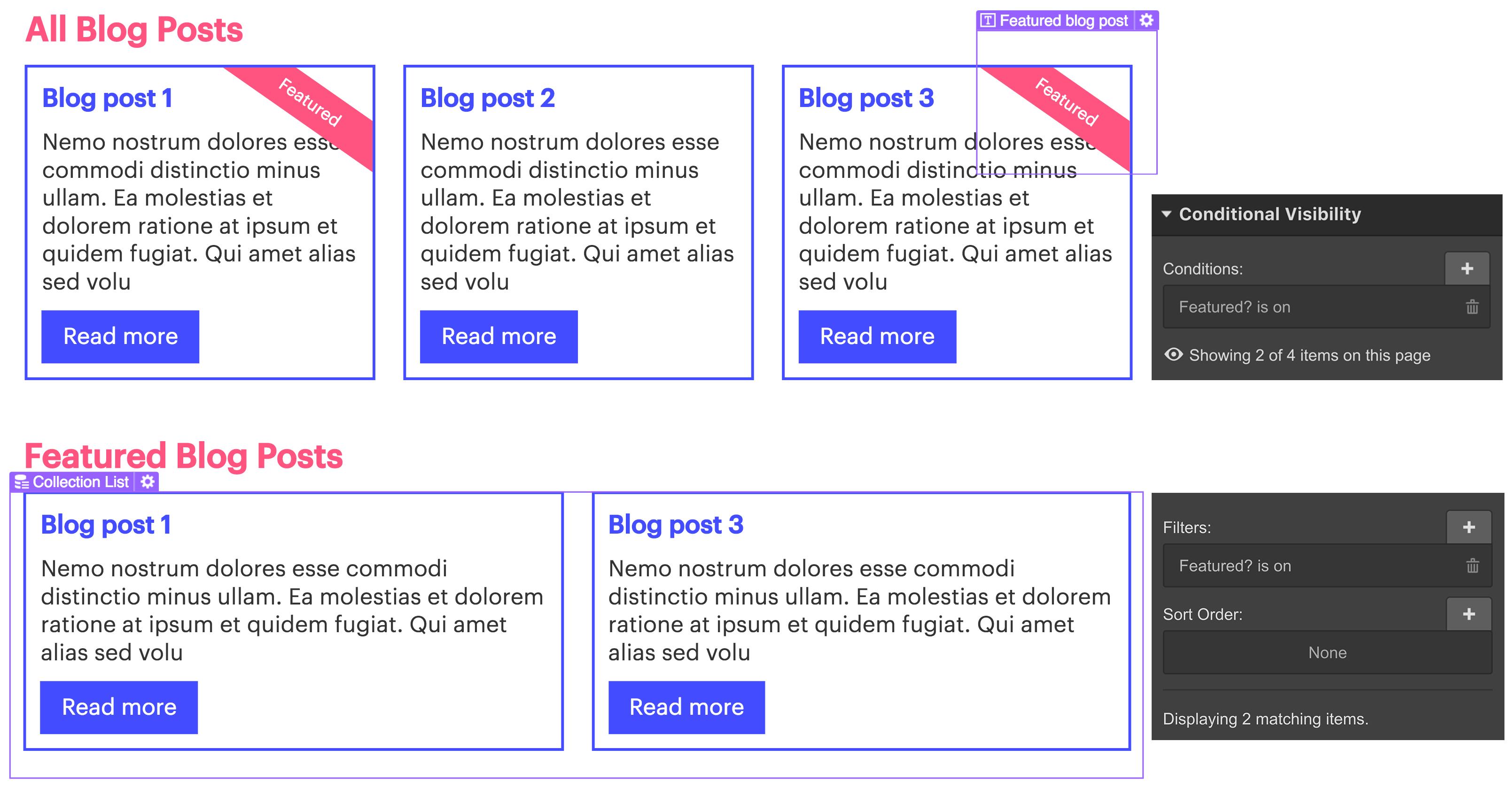 Conditional visibility | Webflow University