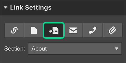 Link Settings in Webflow