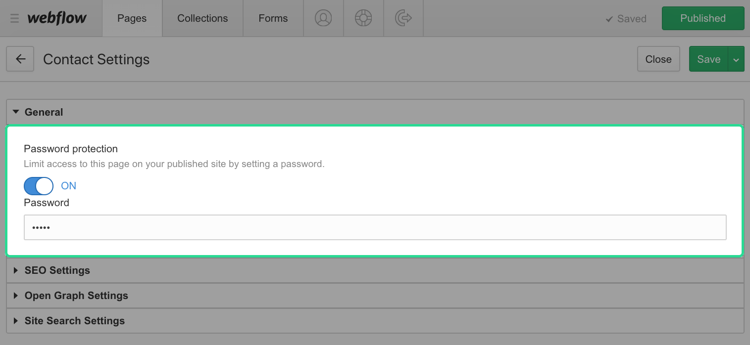 Enable Password protection and Then set a password
