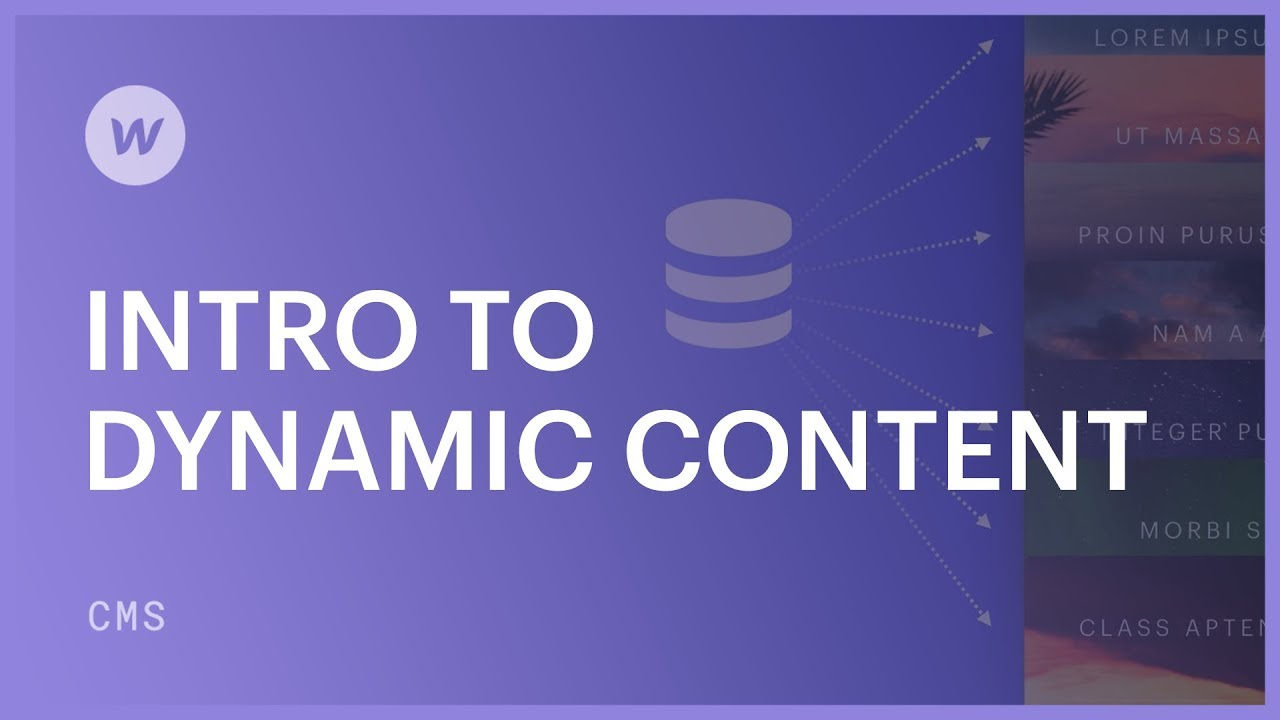 Intro to dynamic content