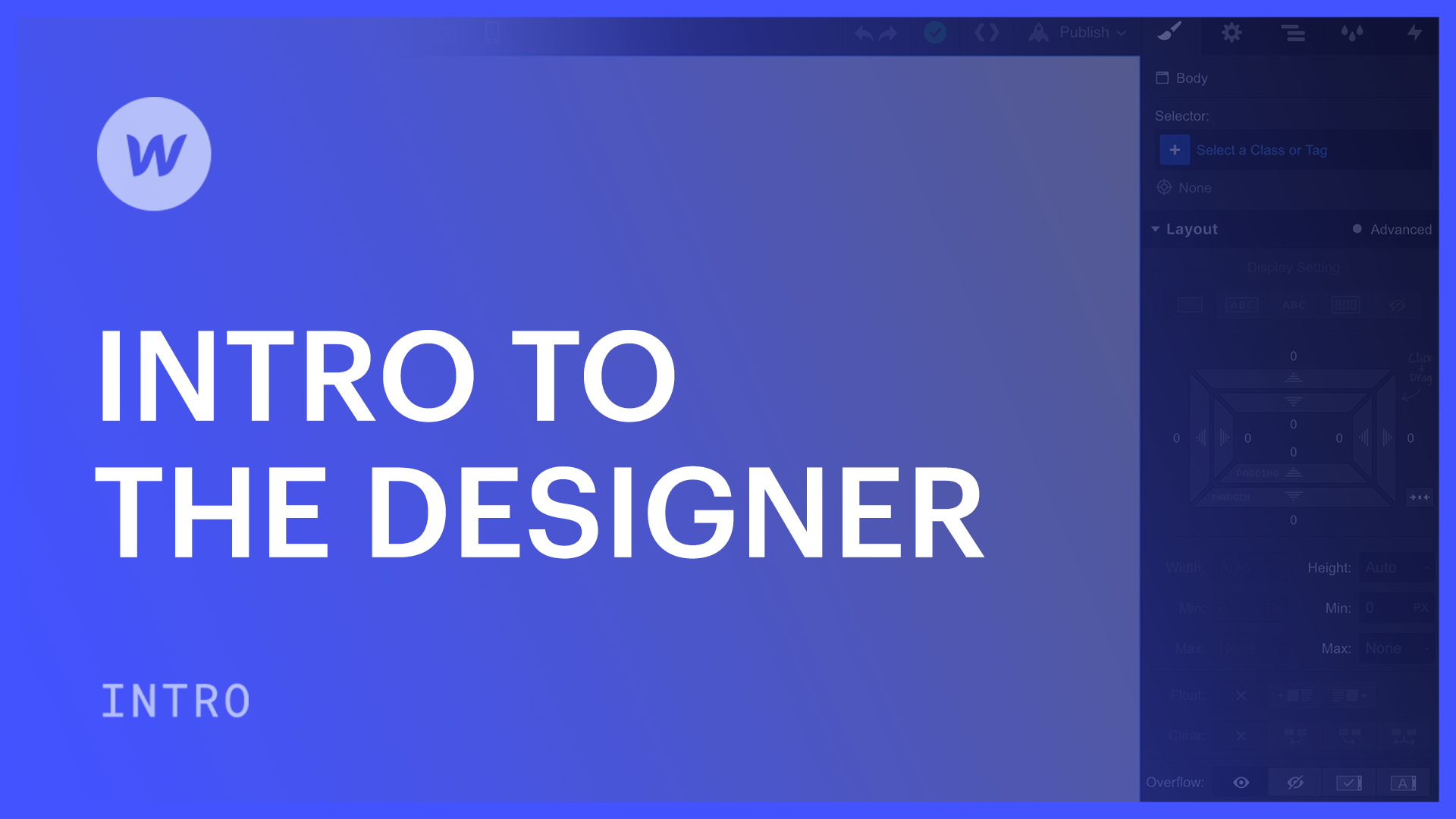 Intro to the Designer