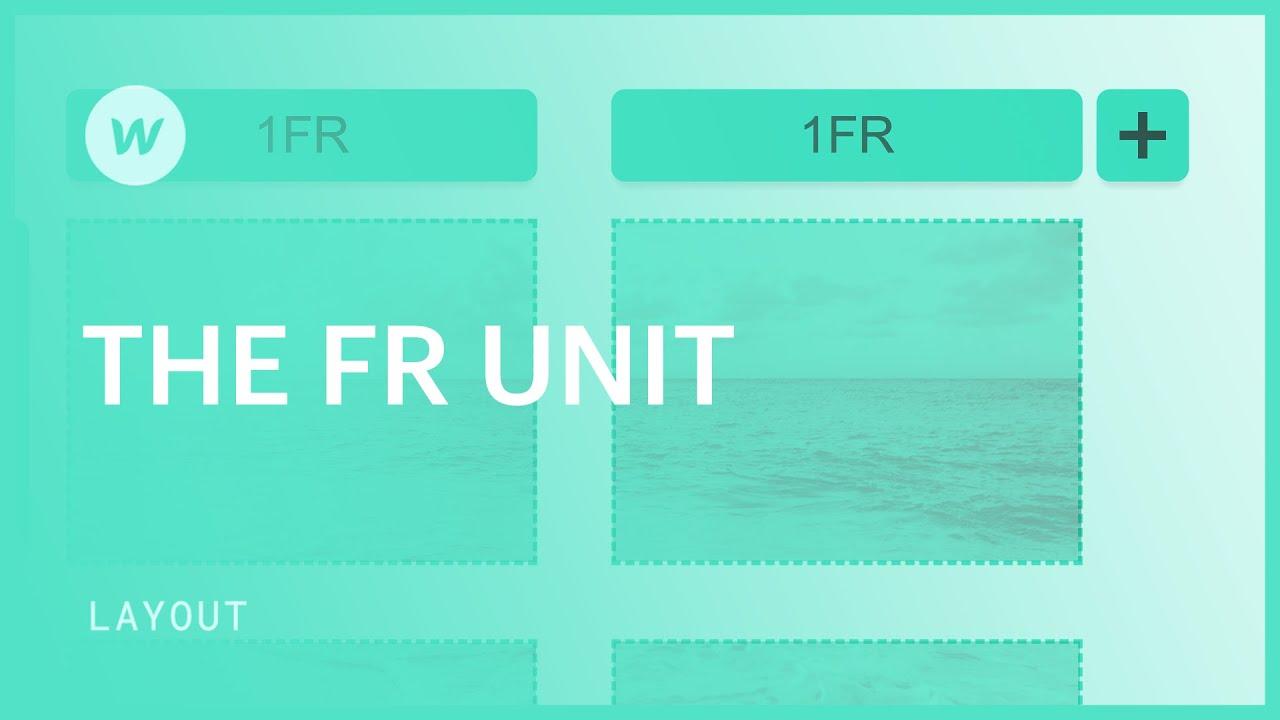 The FR unit