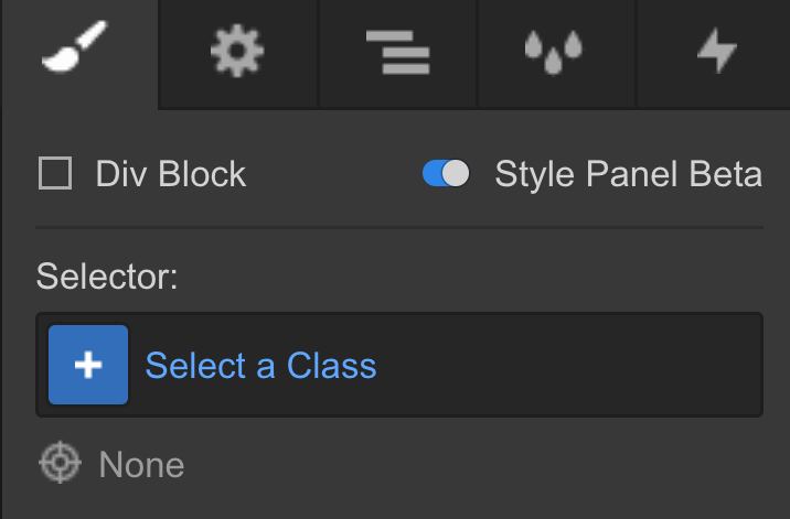 Enable the new Style panel