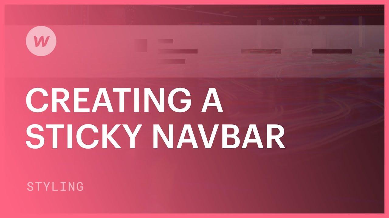 Create a sticky navbar