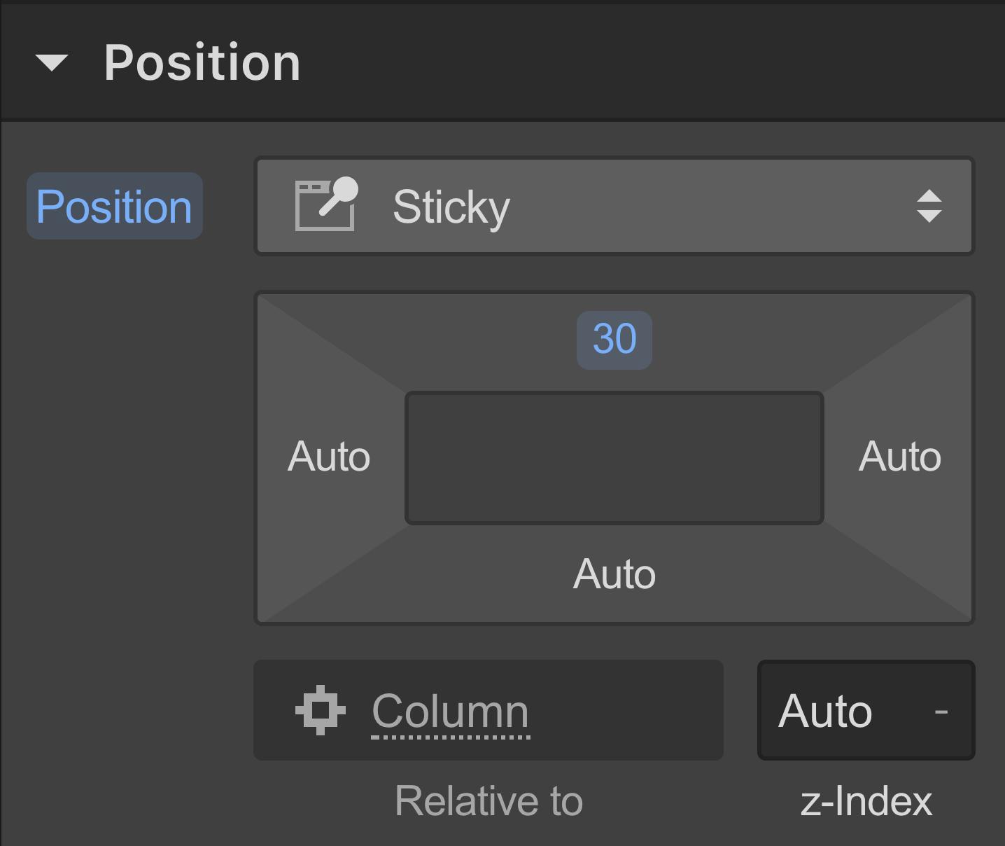 Position sticky