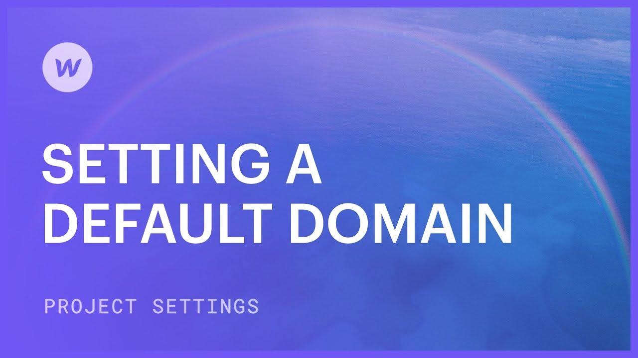 Set a default domain