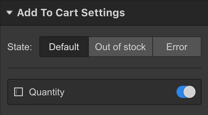 ‍‍Add to cart settings