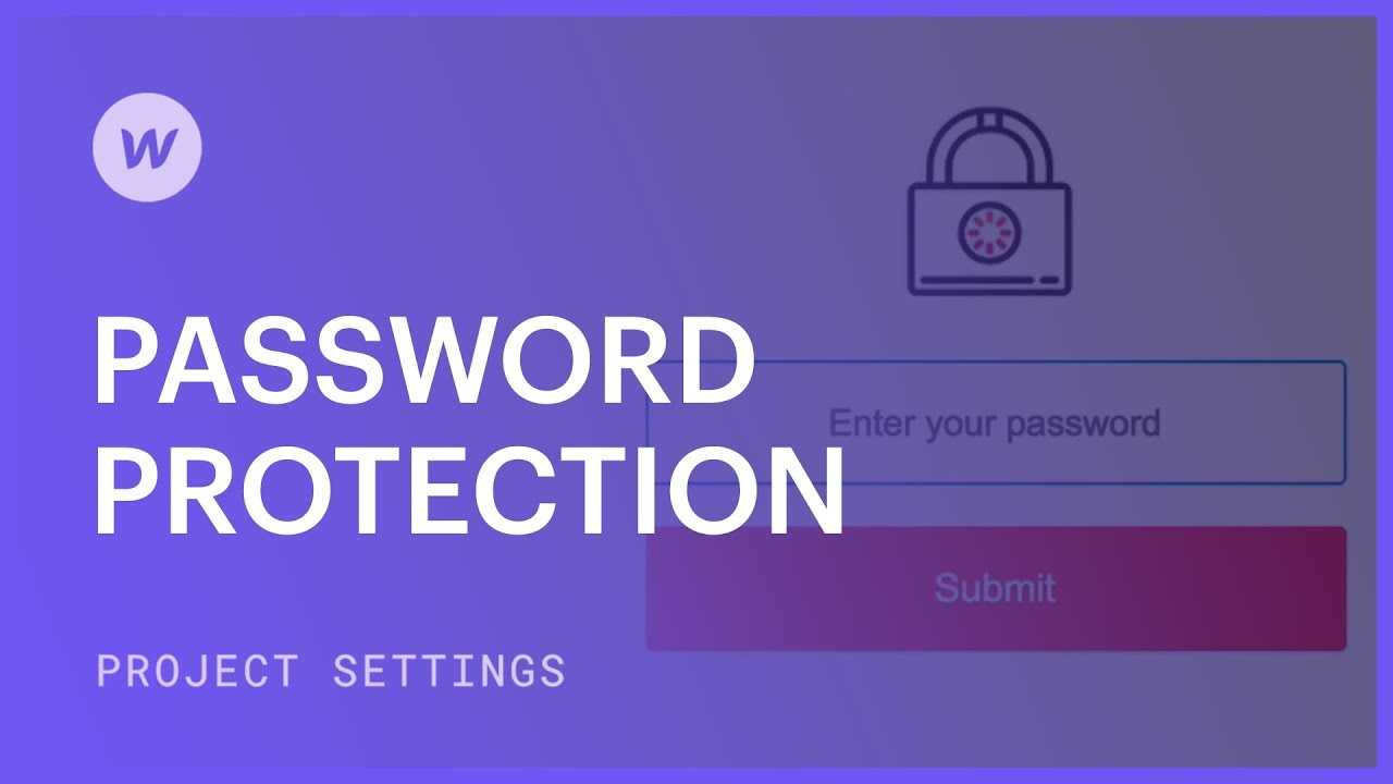 Page and folder password protection   Webflow University
