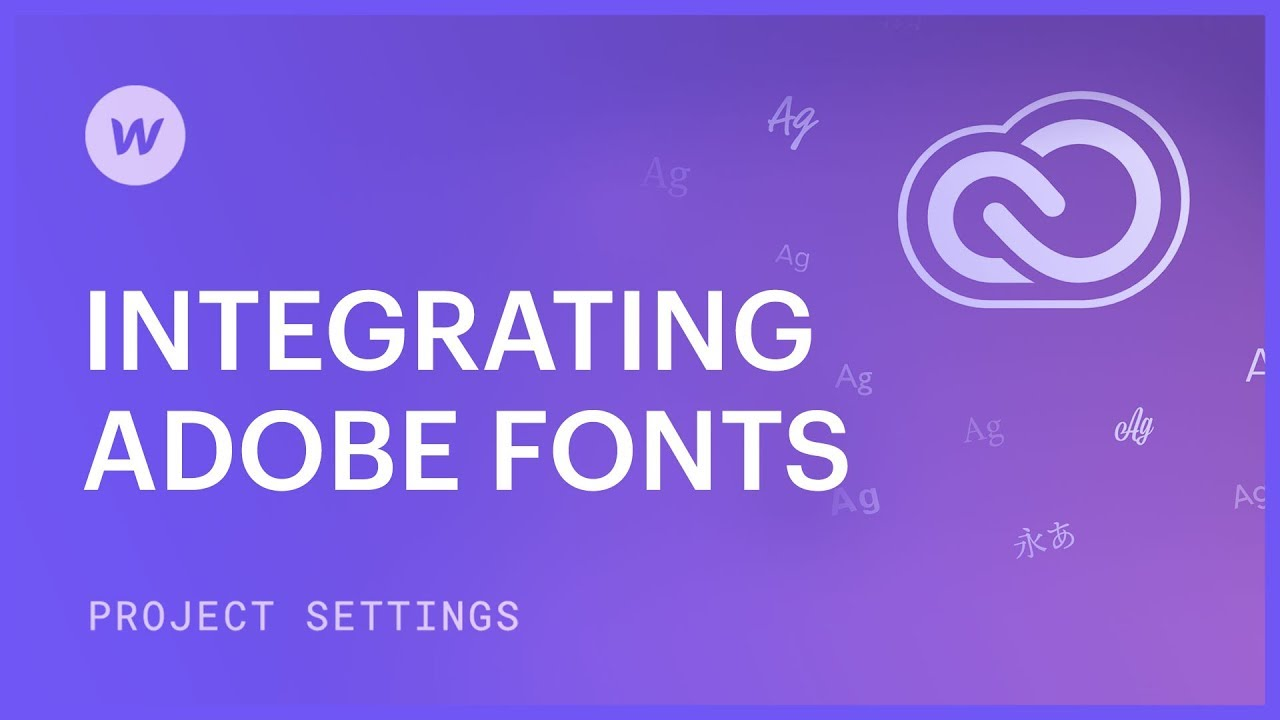 Integrate Adobe fonts into an account
