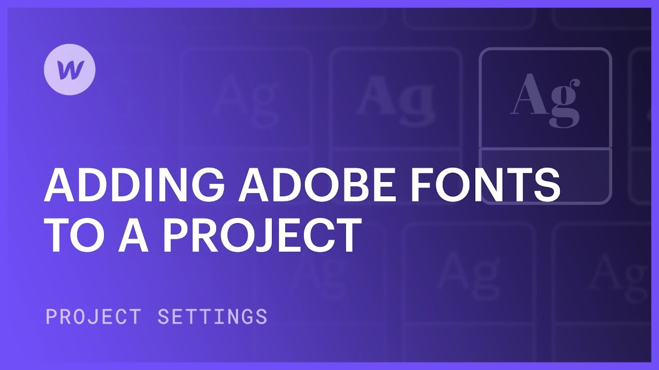 Integrate Adobe fonts into a specific project
