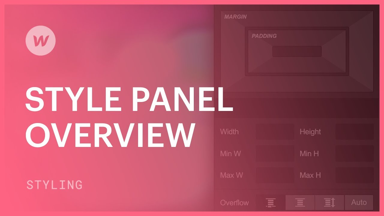 Style panel overview