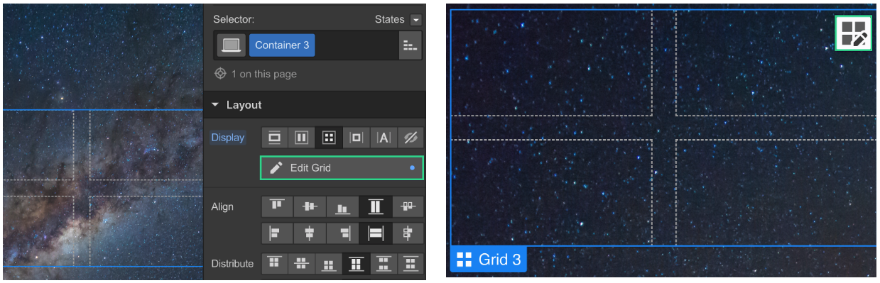Edit the grid