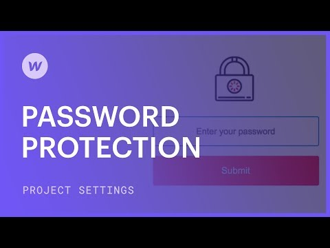 Password protect your site or web pages
