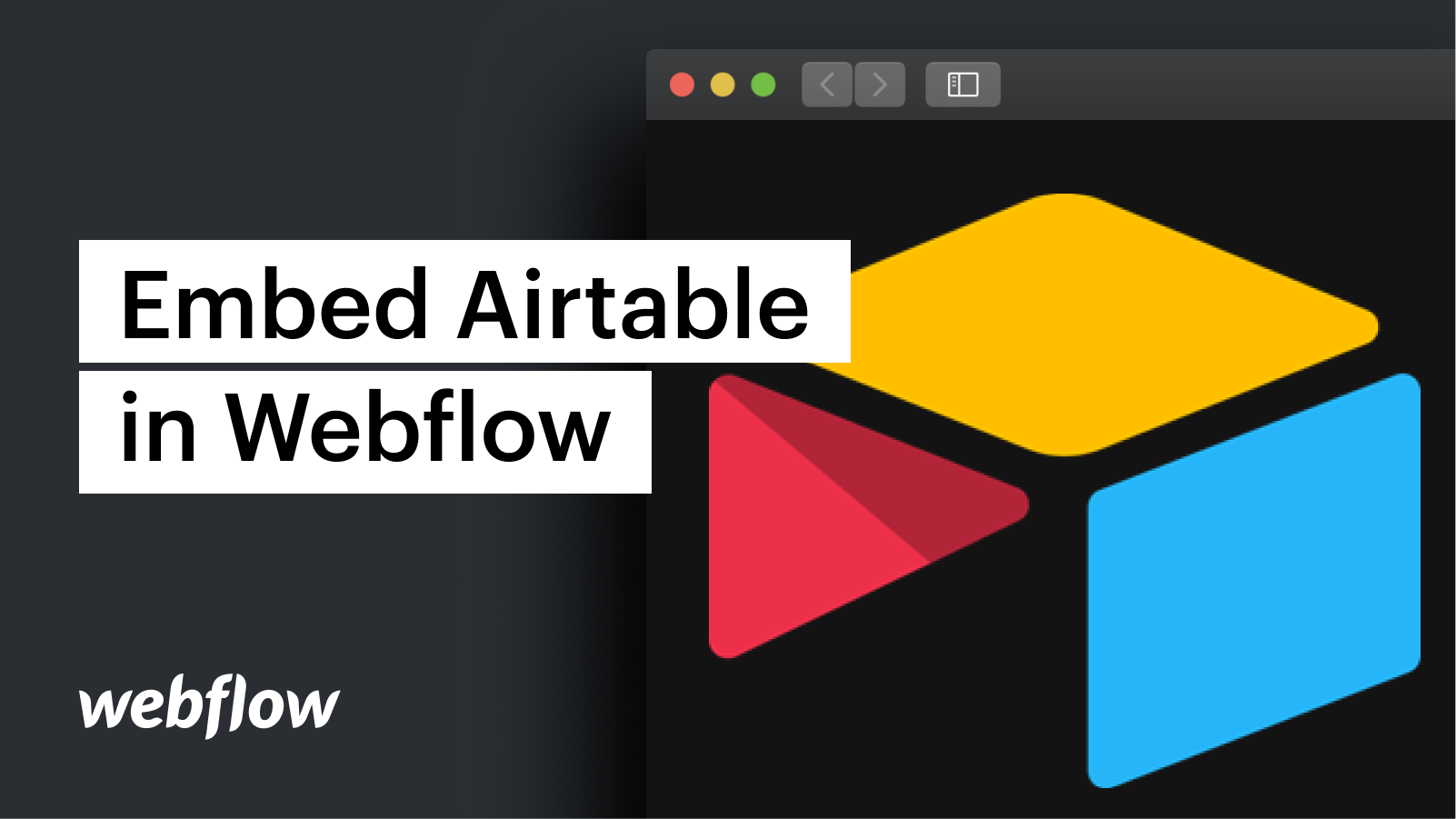 Embed an Airtable form in Webflow
