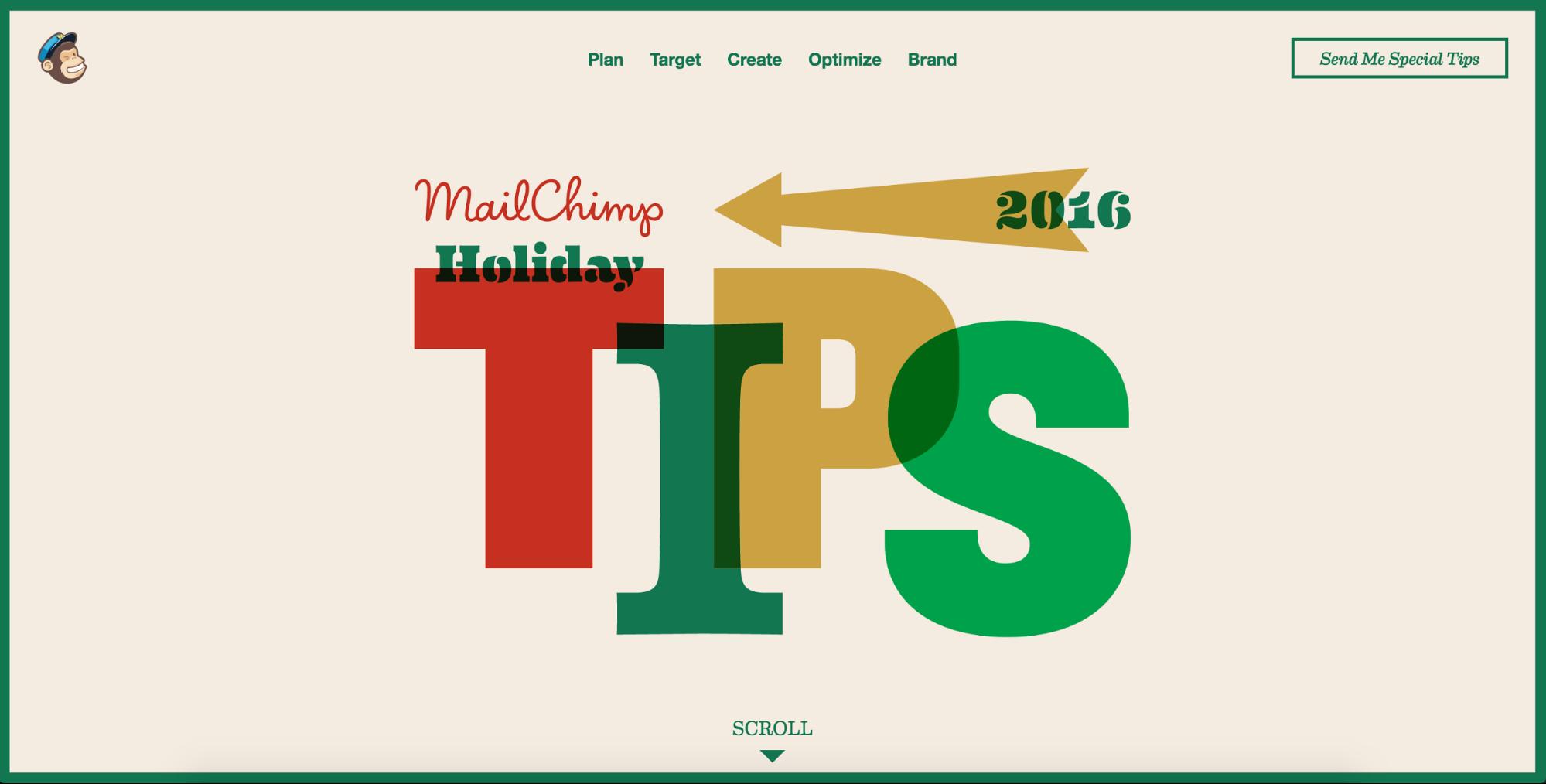 MailChimp holiday marketing tips