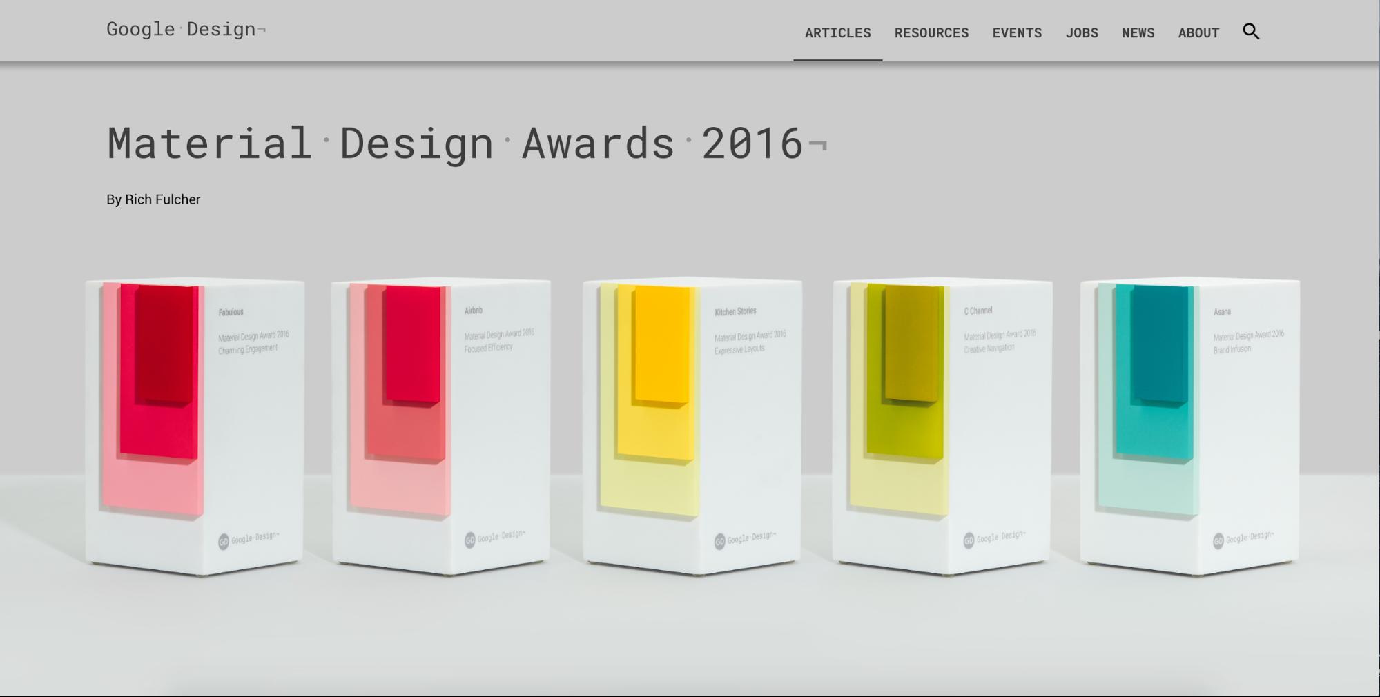Material Design Award winners