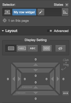 layout section for web designing
