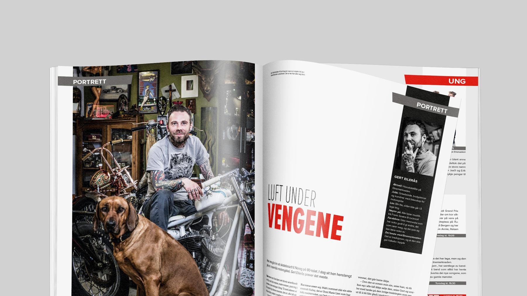 Mockup av magasinet