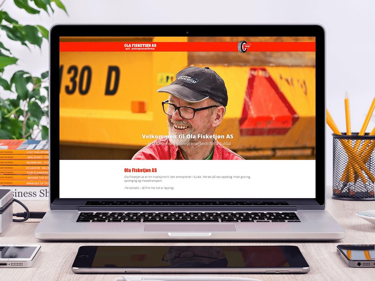Mockup av nettsida