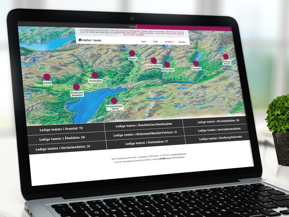Mockup av nettsiden