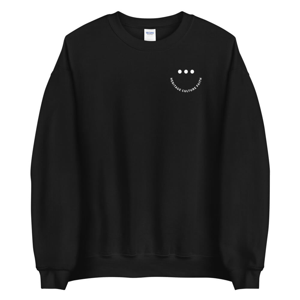 Heritage Culture Faith Smile Sweatshirt (Black)