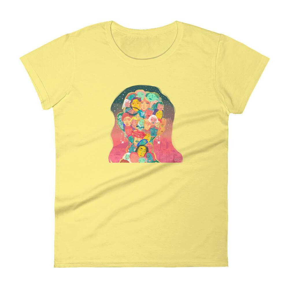 The Women's Issue Short-Sleeve Women's T-Shirt (White/Yellow)