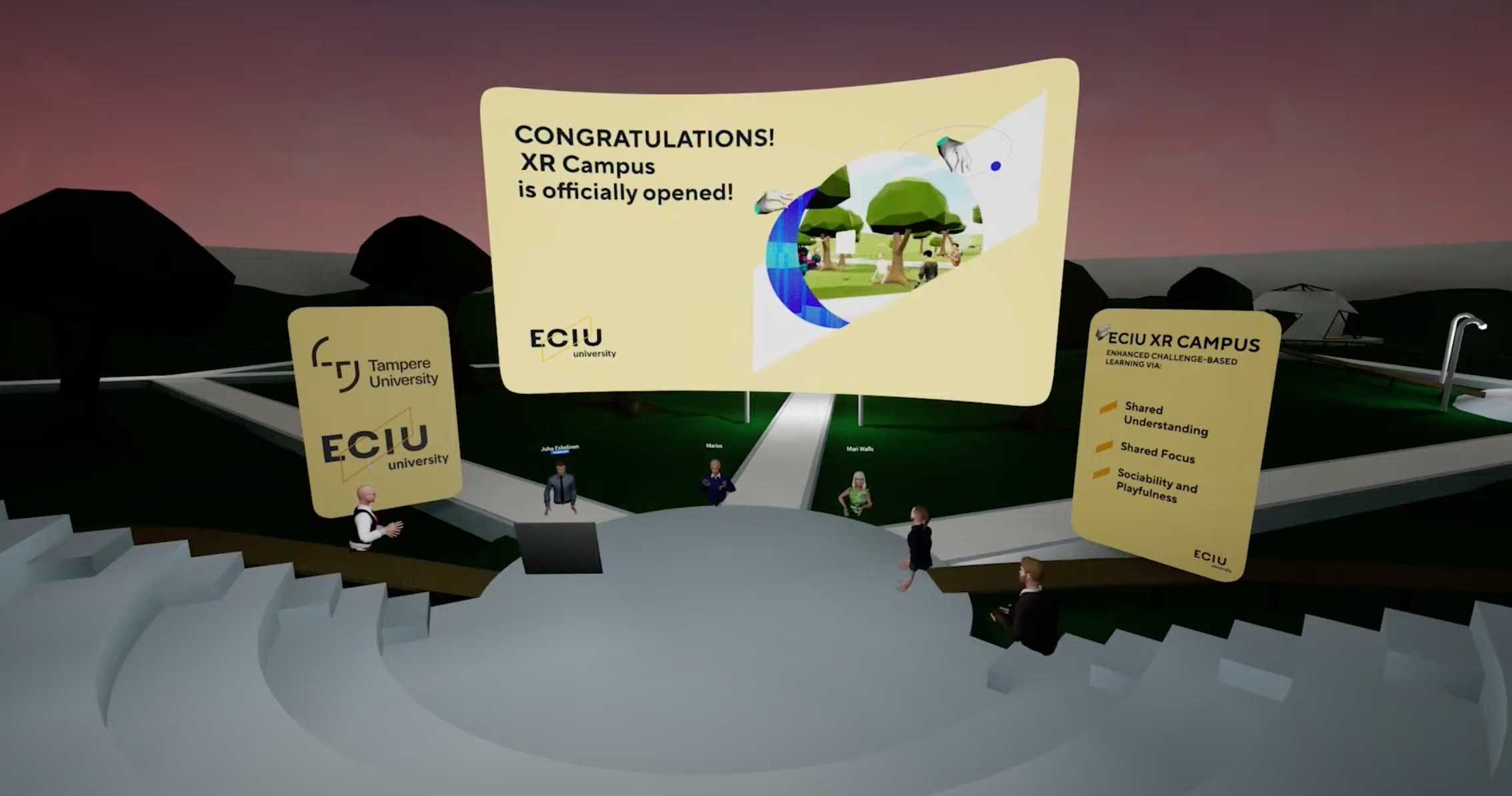 Big milestone for the European educational community: EU Commissioner opened the ECIU Extended Reality Campus