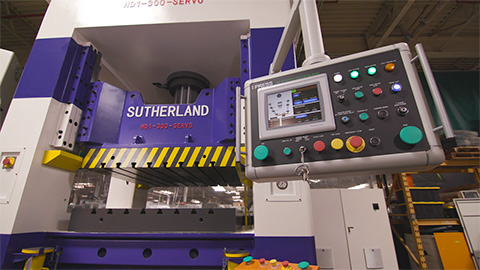 Sutherland Hydraulic Stamping Press Manufacturer Video