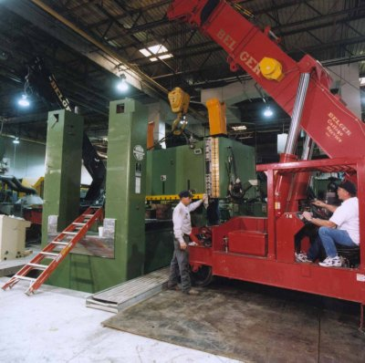 Stamping Press Rigging and Installation