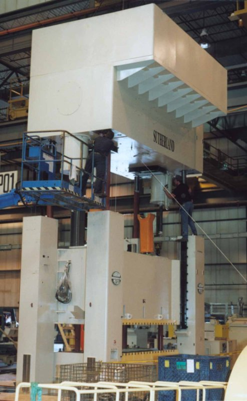Tier One Automotive Stamping Press with 2 Rolling Bolsters