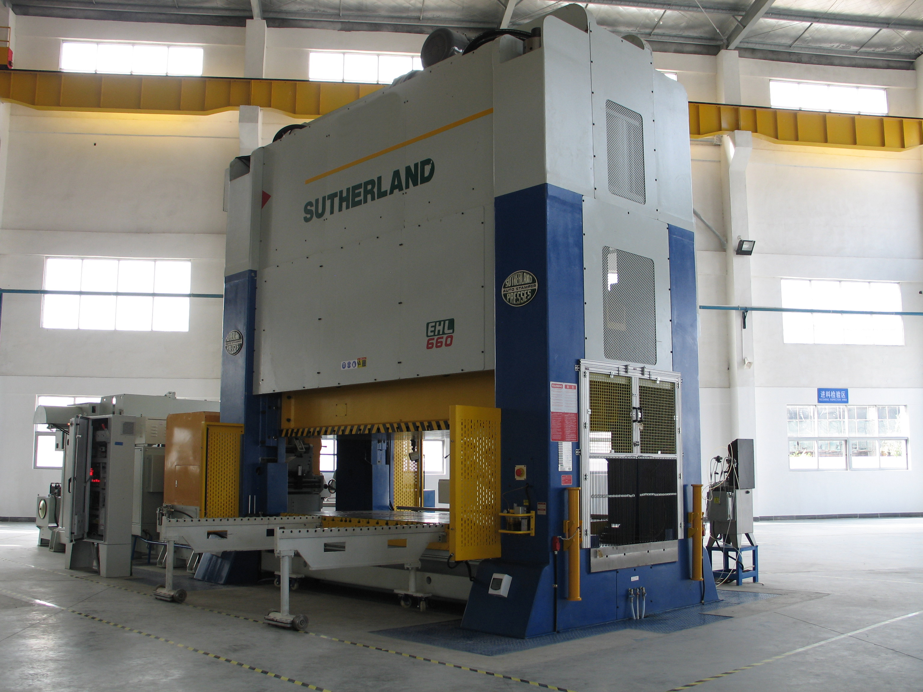 Sutherland EHW Double Point Straight Side Mechanical Stamping Press Machine 660 Tons