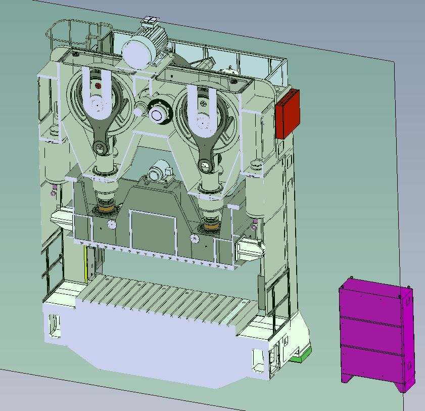 Double Point Straight Side Mechanical Stamping Press Diagram
