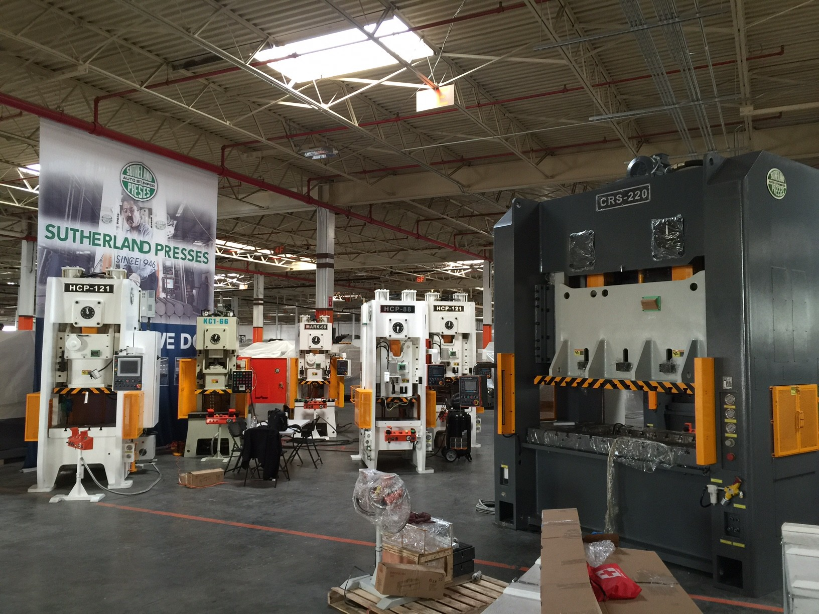 Sutherland California Stamping Presses at Preparation Center