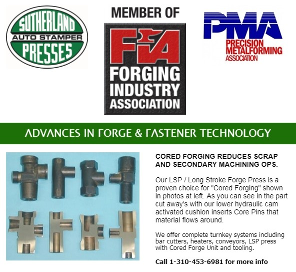 Sutherland and Forging Industry Asociation Fasterner Technology