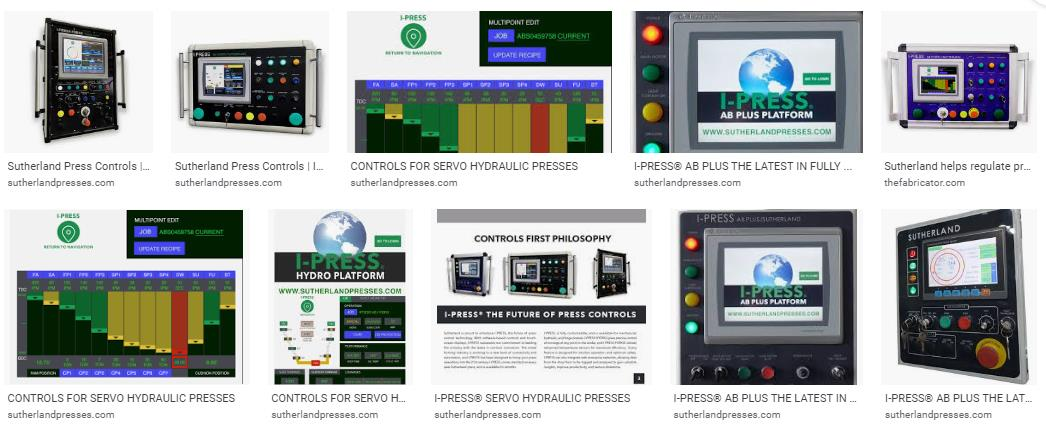 Sutherland I-PRESS Control for Mechanical Stamping Press Machine Industry 4.0
