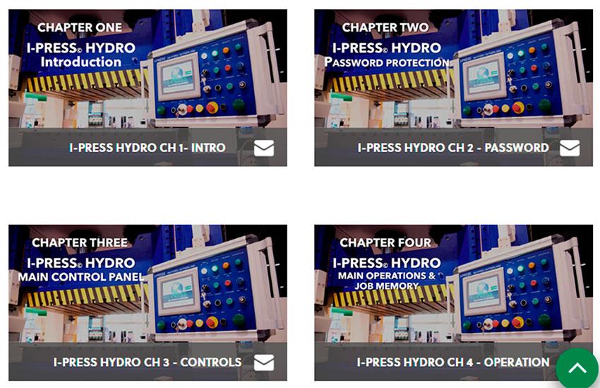 I-PRESS® video tutorials servo hydraulic presses