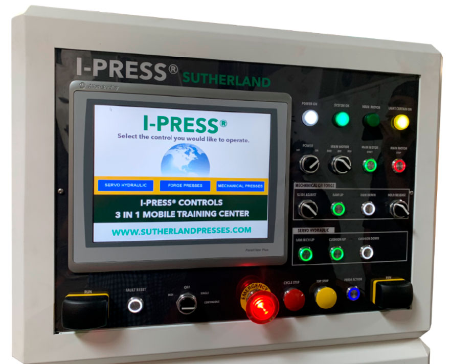 Sample I-PRESS® control & MOS / main operation station
