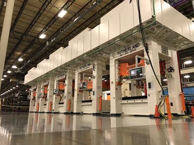 Servo Hydraulic Tandem Line for Appliance Manufacturing