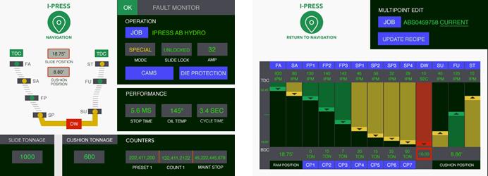 Servo Hydraulic Presses Controls Screen Adjustable Profiles