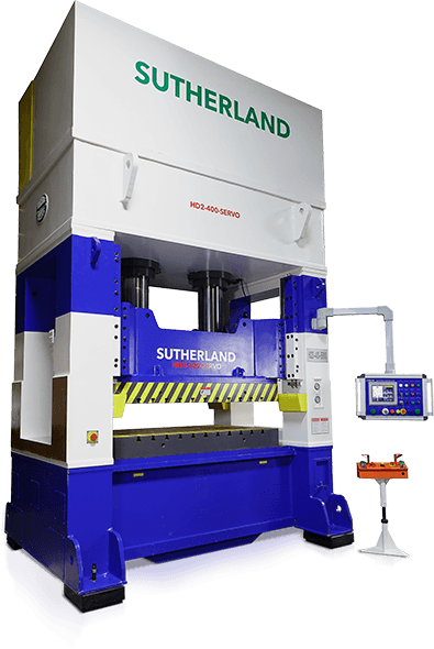 Two cylinder hydraulic press servo driven