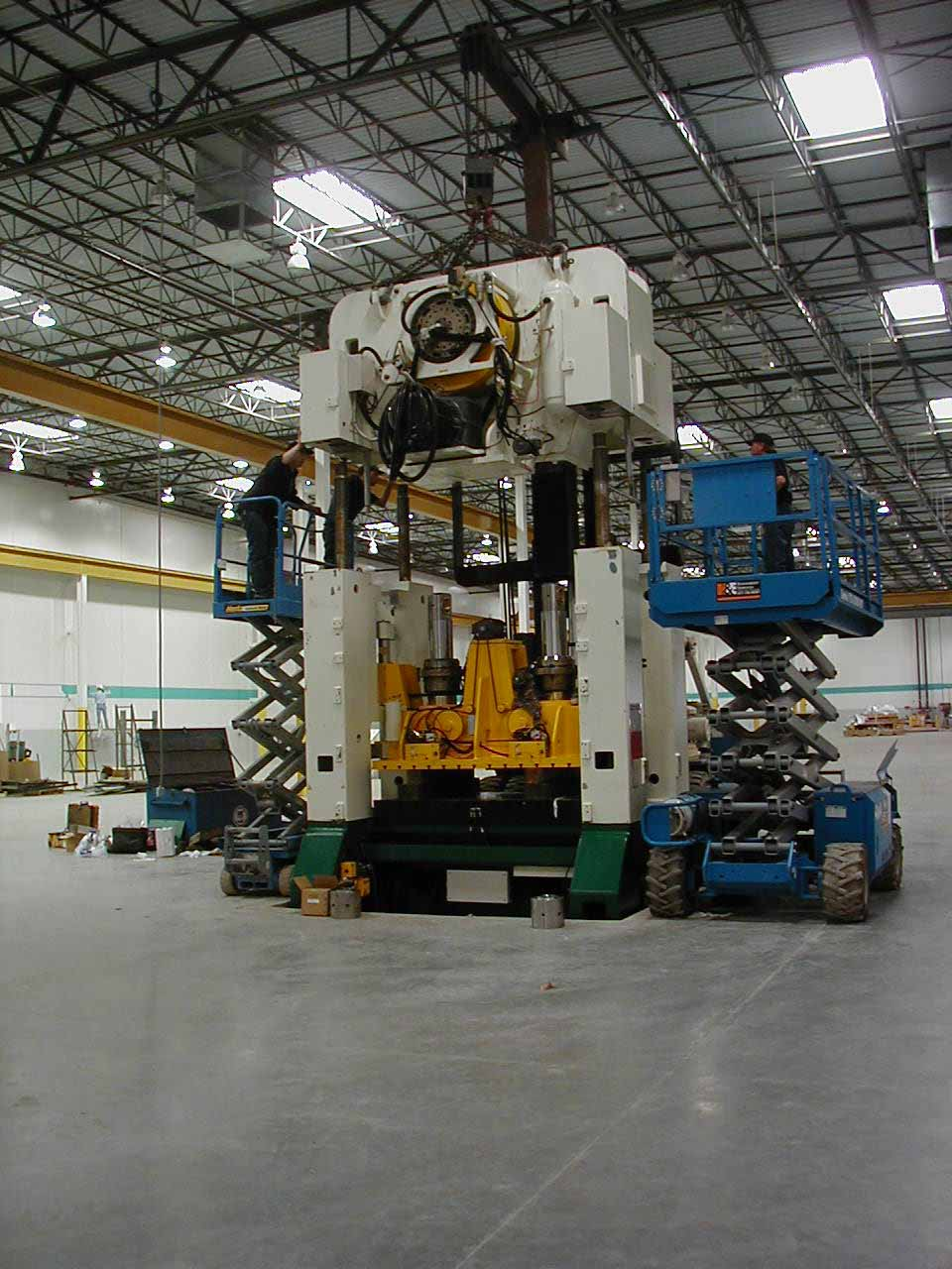 Mechanical press installation photo