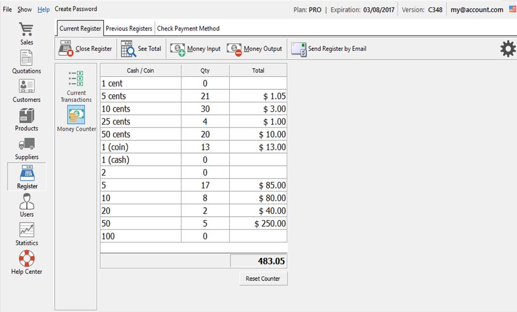 Free Cash Register Software Nextar Pos