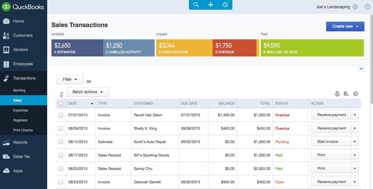 Sync Vagaro transactions with Quickbooks Online