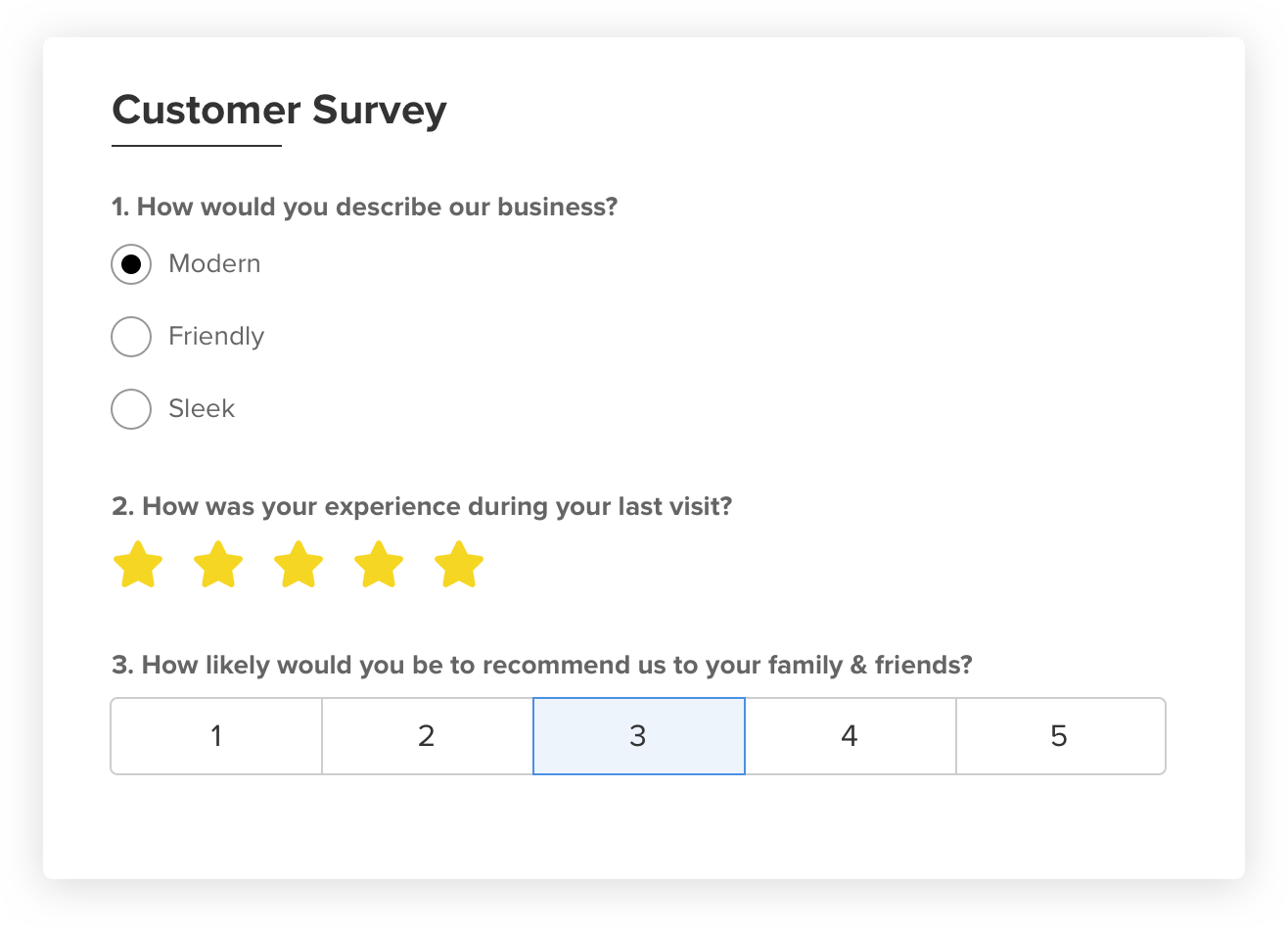 Client Intake Form and Survey Builder