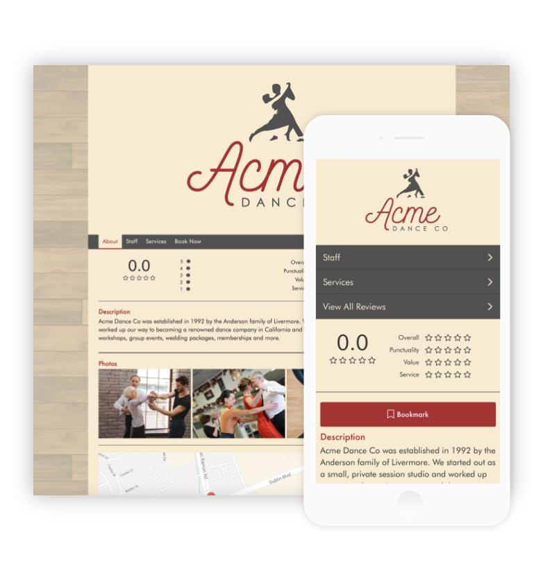 Custom Dance Studio Websites